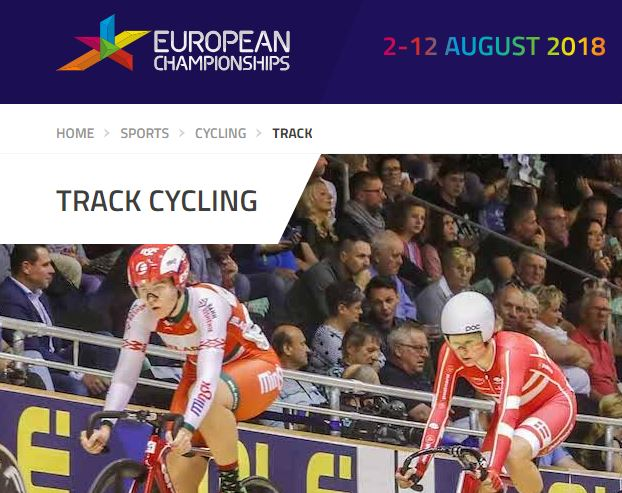 Snapshot: https://www.europeanchampionships.com/sports/cycling